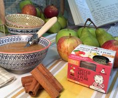 Spiced Apple and Pear - Stage 1 - From 3 Months A puree of Apple and Pear with a hint of cinnamon spice Gluten and Dairy Free. No Added Sugar, Salt or flavourings. Dairy Free Recipes, Baby Food Recipes, Gluten Free Bakery, Cinnamon Spice, Apple Pear, Spiced Apples, 3 Months, Free Food, Serving Bowls