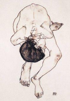 Egon Schiele - Nude, 1913