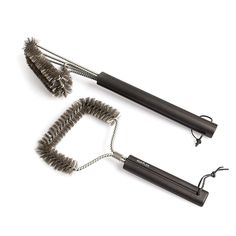 Rustler RS-0364 BBQ brush, 2-pc set, made of rust-proof stainless steel, 53 cm and 30cm