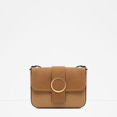ZARA - COLLECTION SS16 - MESSENGER BAG WITH METALLIC DETAIL
