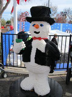 Lego snowman (1m20cm/4ft) at Legoland, Carlsbad, California, USA