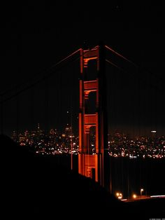 San Francisco - Marin Headlands.  the night of the Loma Prieta earthquake, I was up there with friends.  Only darkness, along marina & red lights on some skyscraper tops.