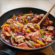 """Chicken Cacciatore - """"hunter-style"""" braised chicken,  easy to prepare."""
