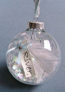 ornament idea/kids fill with lil things