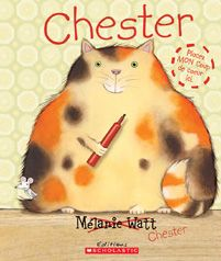 Chester by Melanie Watt. Watt's story is taken over by her cat Chester in this hilarious picture book. Book Club Books, Book Lists, Kid Books, Book Clubs, Reading Books, Book Series, Children Reading, Reading Lessons, Writing Lessons