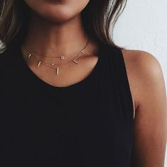"""JULIE SARIÑANA on Instagram: """"Perfect tank @shop_sincerelyjules to show off dainty necklaces. ❤️"""""""