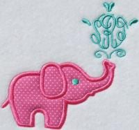 Elephant Applique Frame Embroidery Design by ApexEmbroidery, $2.99