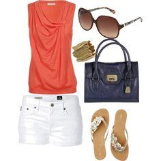 Love the white shorts!!