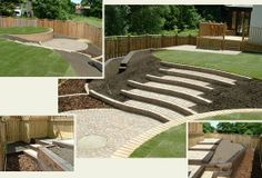 sloped backyard landscapes | Great idea for sloped backyard