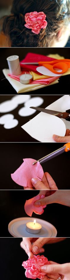 DIY   How to make lovely fabric flowers   From simplyvintagegirl   DIY & Crafts