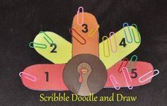 Fun way to incorporate number recognition at Thanksgiving time.