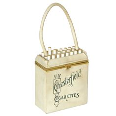 Anne-Marie Chesterfield Cigarettes Handbag | From a collection of rare vintage handbags and purses at http://www.1stdibs.com/fashion/accessories/handbags-purses/
