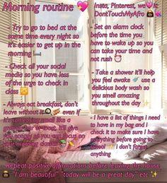 Baddie glo up tips Night Beauty Routine, Beauty Routines, Night Routine, Skincare Routine, Morning Routines, Girl Life Hacks, Girls Life, School Routines, School Tips