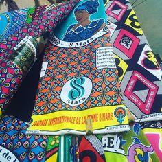 Pagne de la Journée internationale de la femme 8 mars   Brazzaville   @nothingbutthewax sur Instagram