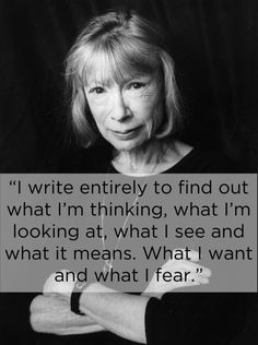 Joan Didion! ♥️❥ One of my most favourite authors, ever.  Her work is the most descriptive and leaves a mark on you somehow...She really is a master at taking you along with her.  Love, love, love her wielding of words!
