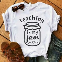 Teacher Outfit This ones for all the teachers out there 👩🏼‍🏫 available in multiple s. This ones for all the teachers out there 👩🏼‍🏫 available in multiple sizes on my Etsy page! This would make a great gift for a teacher 👌🏼💞 . Teaching Shirts, Teaching Outfits, Preschool Teacher Shirts, Teacher T Shirts, T Shirts For Teachers, Teacher Wear, Outfit For Teachers, Gifts For Music Teacher, Diy Gifts For Teachers