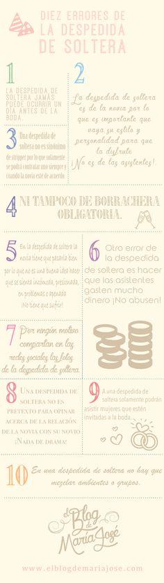 Diez errores de la despedida de soltera #bodas #ElBlogdeMaríaJosé…