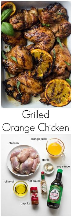 Grilled Orange Chicken Recipe - family favorite chicken recipe that is a must during the grilling season! | littlebroken.com Katya | Little Broken