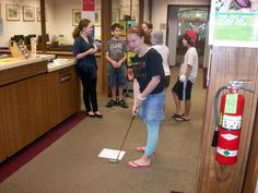 Port Jefferson teens enjoy library golf.