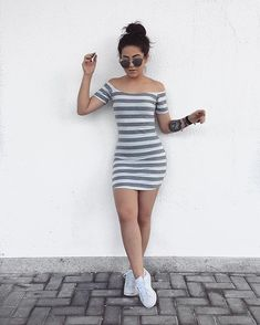 Sports type dresses that will give you a better silhouette – Outfit Inspiration & Ideas for All Occasions Simple Fall Outfits, Spring Outfits, Trendy Outfits, Cool Outfits, Teen Fashion, Fashion Outfits, Womens Fashion, Cute Dresses, Casual Dresses
