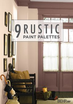 These 9 Rustic Paint Palettes Are Sure To Do The Trick! Try Out Your  Favorite BEHR Paint Color Combination In Your Entrywayu2014talk About A  Wonderful First ...