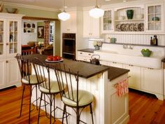 HGTVRemodels shows you how a kitchen can serve as your second living room and gives you design ideas with pictures for your kitchen renovation.