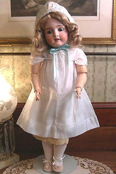 "Large Antique Bisque-Head Child Doll Kley & Hahn Walkure 250 26"", Germany, 1900s  JD Kestner Head with Jointed Compo Body, Antique Dress!"