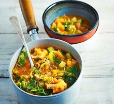 Rustic vegetable soup | BBC Good Food