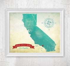 Hey, I found this really awesome Etsy listing at https://www.etsy.com/listing/156935074/customized-state-of-california-art-print