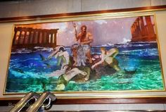 "Bernie Fuchs- painting/mural for  ""Legend of the Seas"" cruise ship"