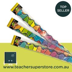 Add a splash of vibrant colour to your classroom with these fully-reusable magnetic borders! Order yours now online. Teaching Aids, Helping Others, Vibrant Colors, Magnets, Teacher, Blog, Classroom, Colour, Waves