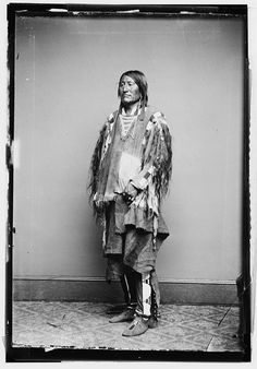 C.1858 An Unknown Crow Indian Chief  Native by InterestingPhotos, $8.75