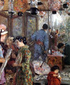 Adolph von Menzel, Japanische Maler, 1885