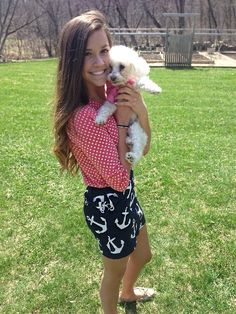 So cute to put the anchor shorts with the polka dots!! Never would have thought of this!