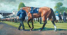 """Mi piace"": 69, commenti: 1 - John Fitzgerald Artist (@johnfitzgeraldart) su Instagram: ""Curragh racecourse parade ring, oil on board #curragh #horseracing #thoroughbred #horse #horses…"""