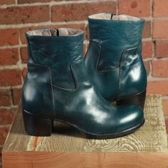 "Moma ""Marine Blue Ankle Boot"""