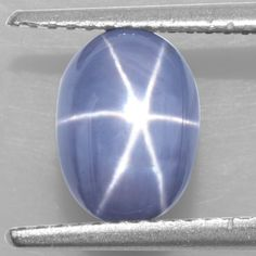 3.03 Cts Natural Sharp 6 Rays Blue Star Sapphire Oval Cabochon certified