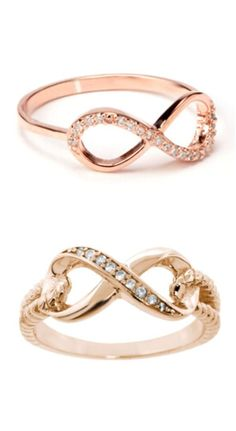 Pave Gold Eternity Rings ♥ Simply Boo-ti-ful!  ♥♥♥