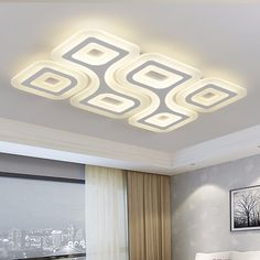 LED Super-thin Ceiling Lamps Modern Living room Ceiling Light Rectangul… – My Home Design 2019 Gypsum Ceiling Design, House Ceiling Design, Ceiling Design Living Room, Bedroom False Ceiling Design, False Ceiling Living Room, Fall Ceiling Designs Bedroom, Led Lighting Home, Bedroom Lighting, Pendant Lighting