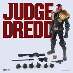 2000 AD and ThreeA proudly present the first release in the thrilling return to 1/6th Scale, the most feared lawman around – Judge Dredd! Available for Pre-order September 29th, 2016 at Bambaland.com and ThreeA Stockists Worldwide (http://www.worldofthreea.com/3astockists/). You can find more images and full details on our blog here: http://www.worldofthreea.com/threea-production-blog/judgedreddonesixth #ThreeA #2000AD #WorldOf3A #WO3A #JudgeDredd #Dredd