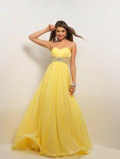 Sweetheart Floor Length Crystal Chiffon Princess Evening Dress