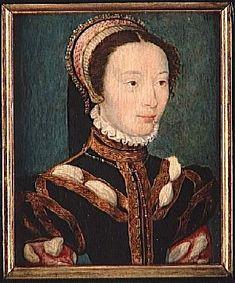Jeanne van Halewijn (1530-1580)secret wife of KG Francois 2.Duc Montmorency /by Corneille de Lyon (*1500/1510 Hague+1575 Lyon) alias Corneille de La Haye, Corneille de Laye/ Dutch-French painter /Work location Bruges, Lyon (1533–1575) /