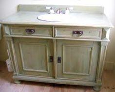 Distressed Bathroom Vanities vintage brown 3 drawer wicker basket wood cabinet furniture hobby