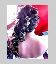 Hair perfect for wedding/ prom curls pin up to one side