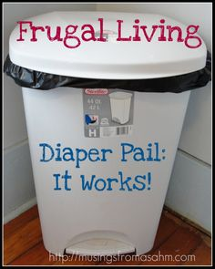 A diaper pail is a must have if you have little ones. Not pleasant, but it comes with the territory. I have 4 kids and up until recently (and our potty training adventure) had 2 in diapers. Now we ...