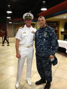 Eric Dane (in dress whites) with show extra.