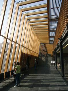 Prince George Airport /// McFarlane Green Biggar Architecture + Design Inc. Airport Architecture, Architecture Design, Timber Architecture, Timber Buildings, Landscape Architecture, Landscape Design, Airport Design, Timber Structure, Roof Design