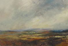 Kristan Baggaley. Low Cloud, Longshaw Estate Mixed Media on Canvas