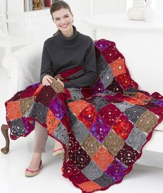 Colorful Squares Throw