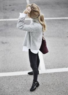 Grey Cozy Turtleneck